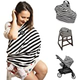 Nursing Cover   Multi Use Breastfeeding Scarf, Baby Car Seat Cover, Shopping Cart, High Chair, Stroller, Great Infinity Shawl   Perfect Baby Shower Gift   Carseat Canopy for Boys and Girls
