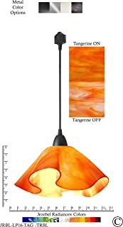 product image for Jezebel Radiance JRBL-LP16-TAG-TRBL Black Lily Track Light, Large, Tangerine