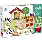 Goula - Puzzle , color verde / rosa / rojo (Diset, S.A 53438)