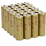 Mr.Batt NiCd AA Rechargeable Batteries for Solar Lights, 1000mAh 1.2V Low Self Discharge (24 Pack)