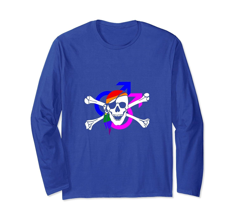Funny LGBT Long Sleeve - Skull Crossbones Shirt - Cool Gift-mt