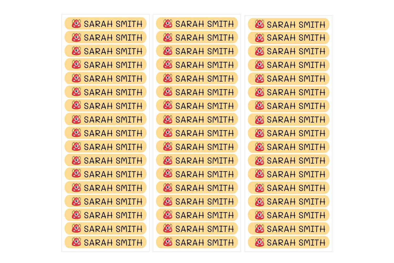 scatole di pranzo per marcare oggetti ecc arancione 50 adesivi personalizzati 6 x 1 cm libri