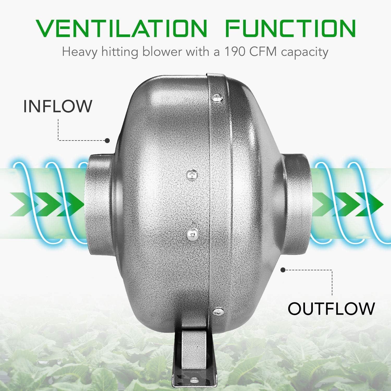 4 Inch Inline Duct Ventilation Fan