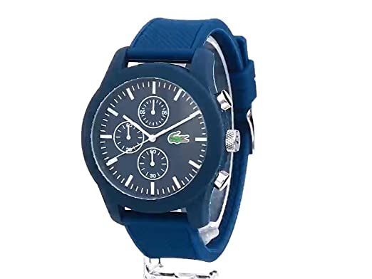 Amazon.com: Lacoste Mens 2010824 12.12 Analog Display Japanese Quartz Blue Watch: Lacoste: Watches