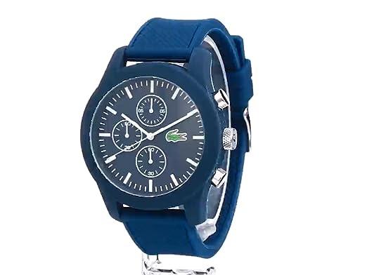 Amazon.com: Lacoste Mens 2010824 12.12 Analog Display Japanese Quartz Blue Watch: Lacoste: Watches