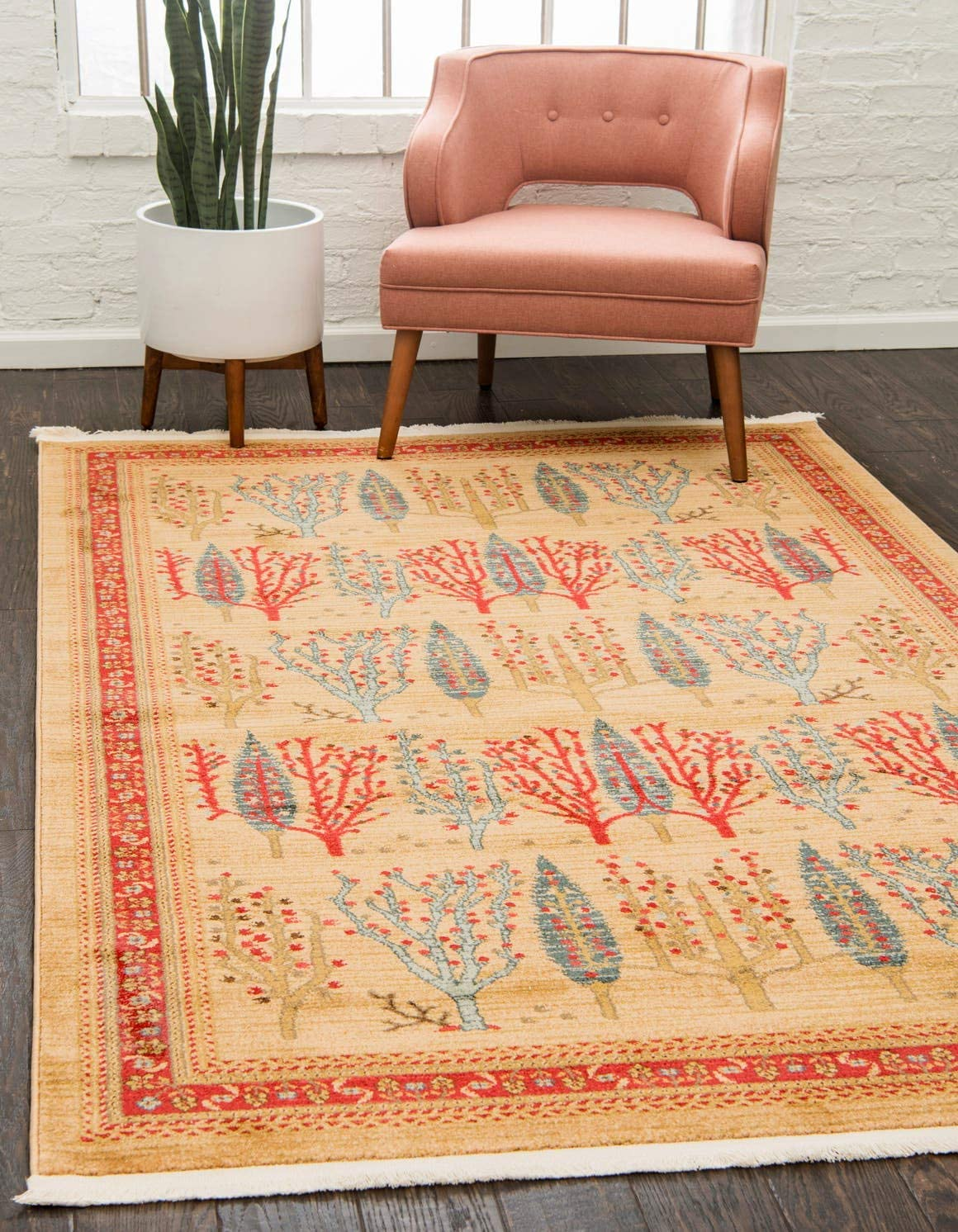 Unique Loom Fars Collection Tribal Modern Casual Tan Area Rug 9 0 x 12 0