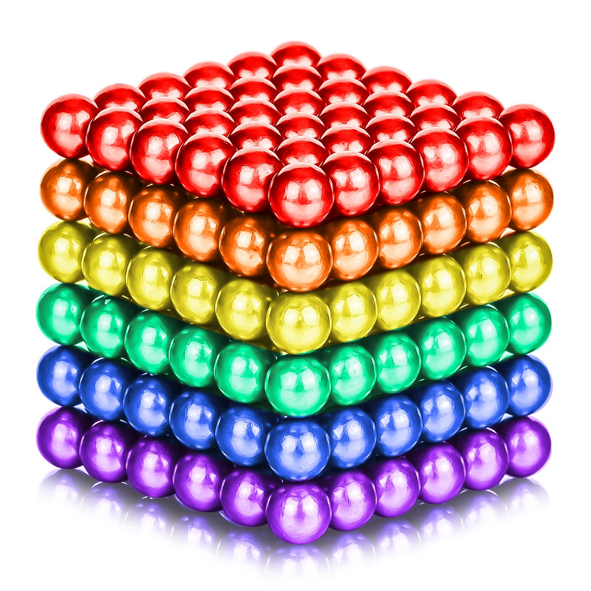 ATESSON Magnetic Sculpture Balls Intellectual Office Toys Anxiety Stress Relief Killing Time Puzzle Creative Educational Toys for Kids Adults (6 Colors,5mm)