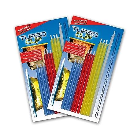 2 x Turbo cierre clip para bolsas bolsas – 10 Unidades