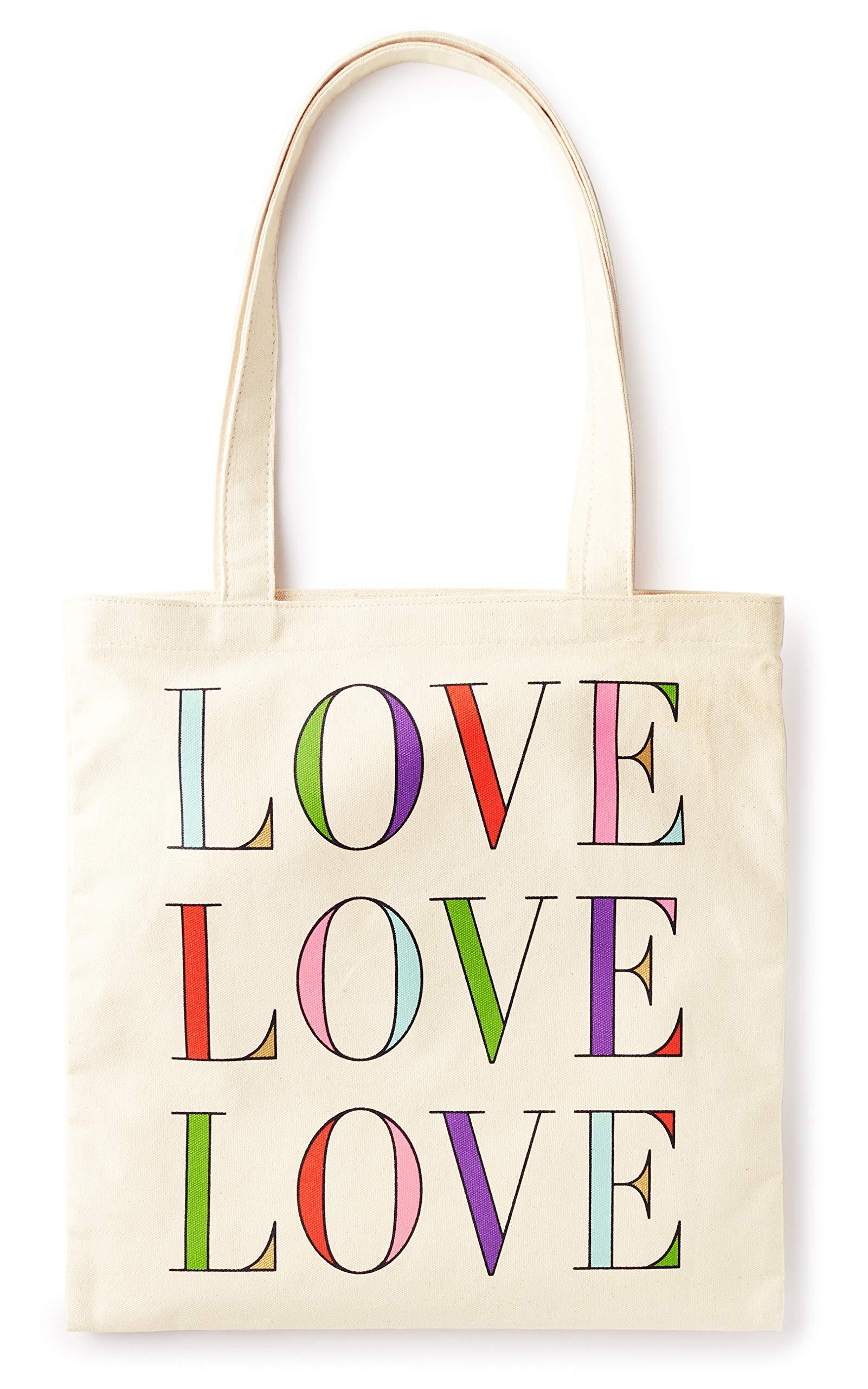 Kate Spade New York Canvas Book Tote (Love Love Love) by Kate Spade New York
