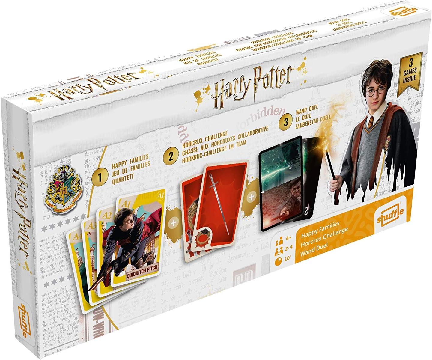 ASS- Tripack Harry Potter Juego de Cartas, Multicolor (Cartamundi 108448992)