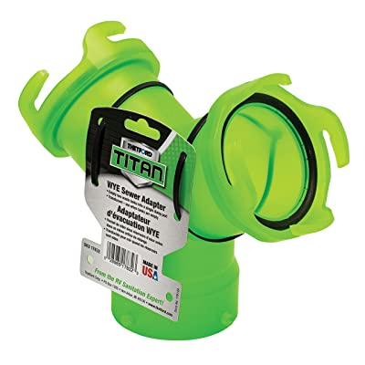 Thetford 17832 Titan Wye Sewer Adapter - Translucent Green: Automotive