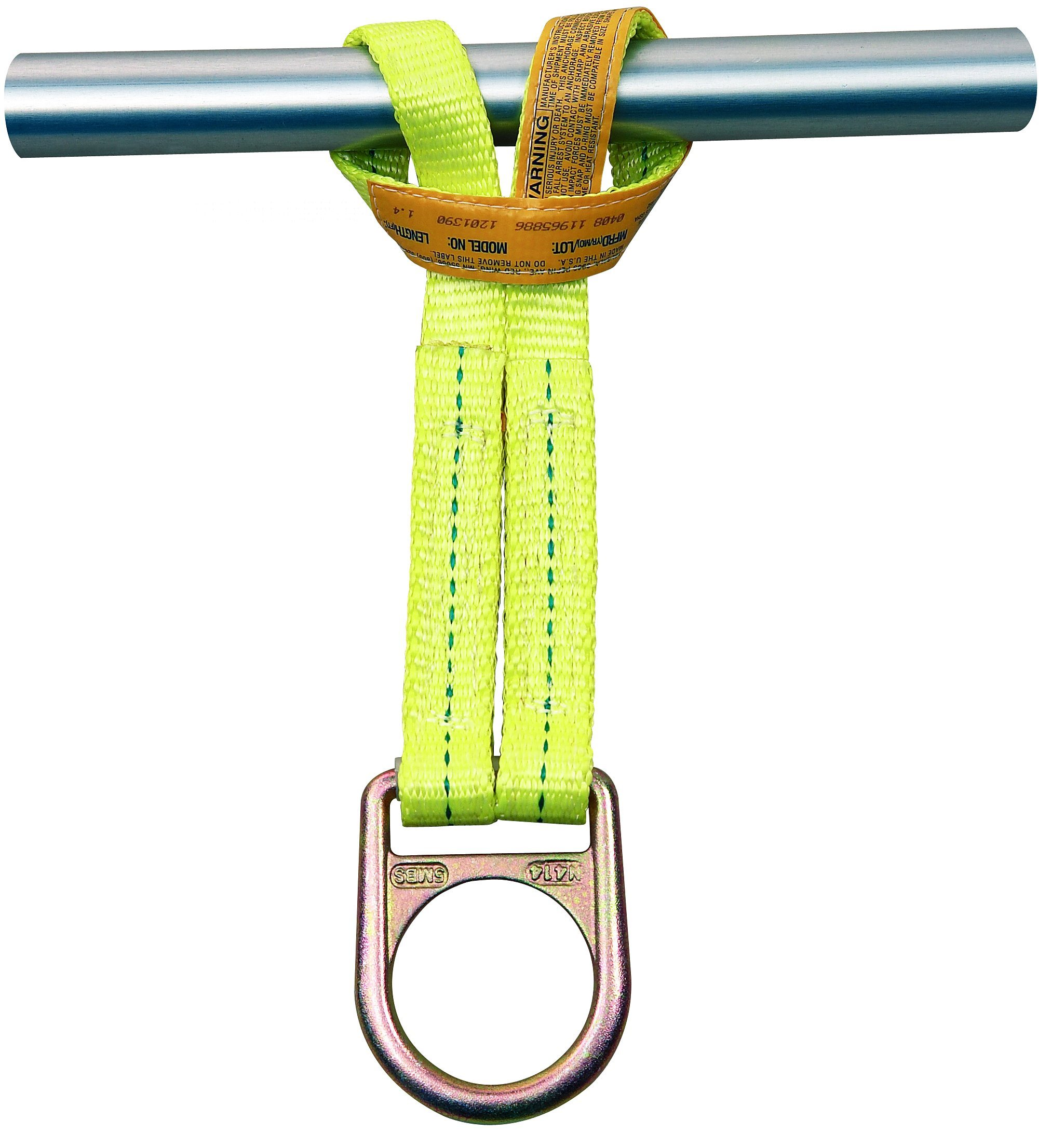 3M DBI-SALA 1201390 Web Scaffold Choker w/D-Ring, Yellow