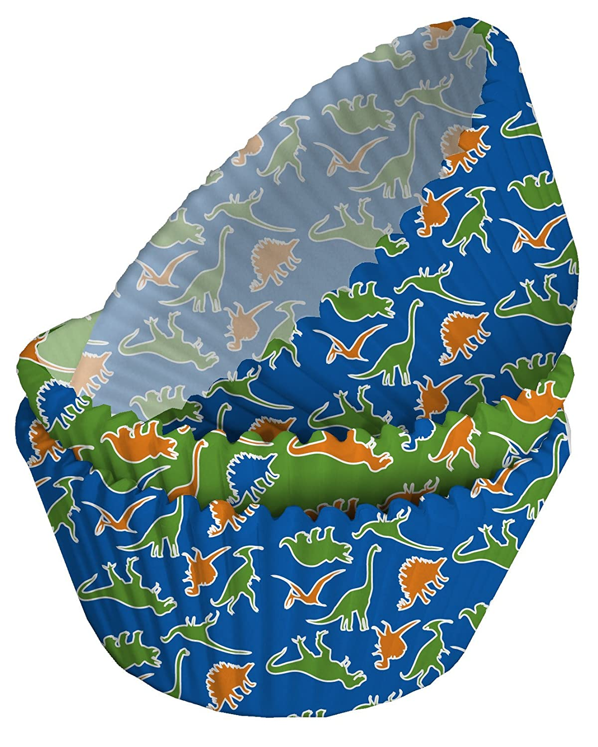 75 x Dinosaur Patterned Cupcake Cases Creative Converting