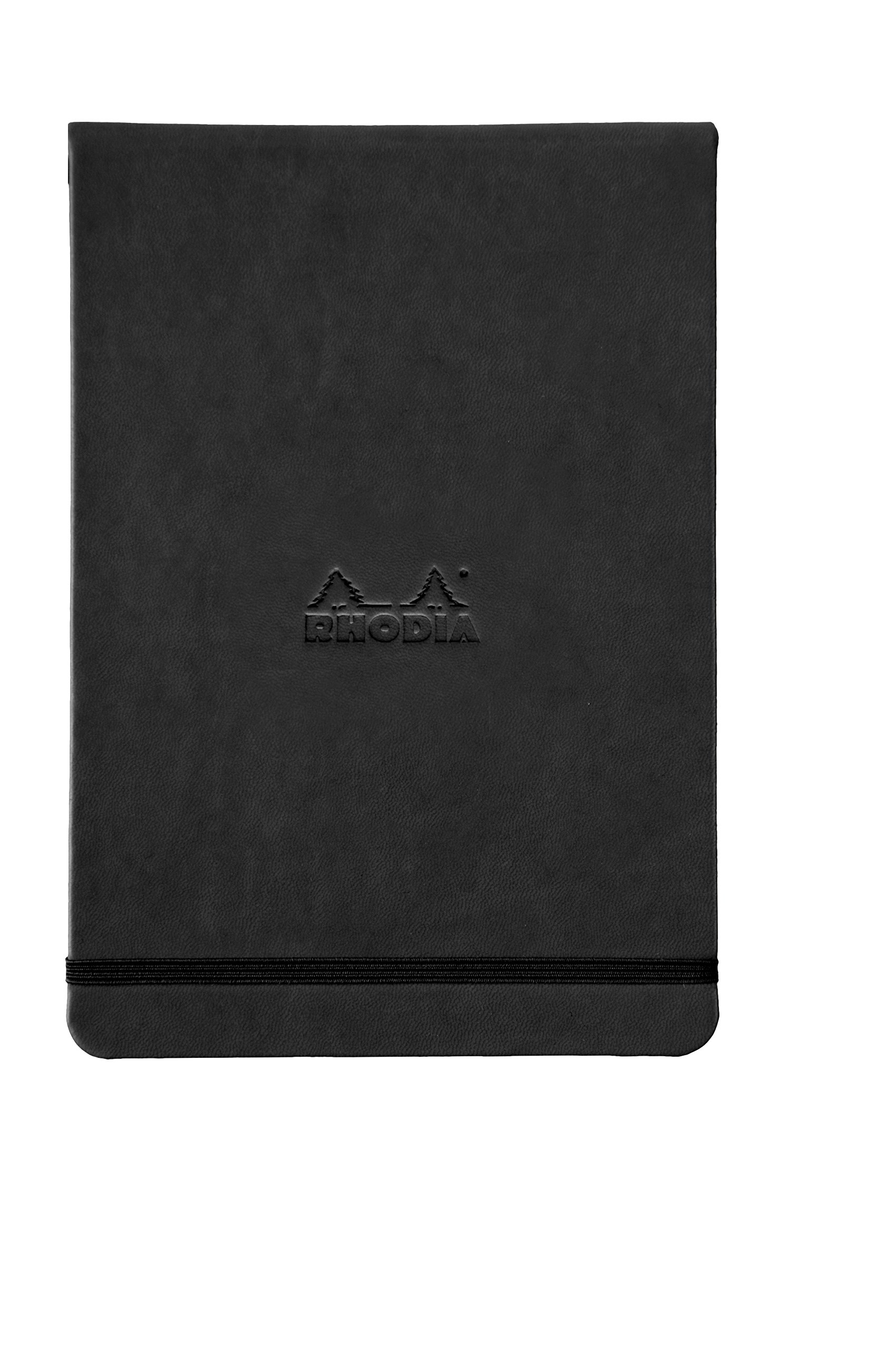 Rhodia Webnotepad Webbies - Lined 96 sheets - 5 1/2 x 8 1/4 - Black Cover by Rhodia