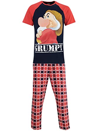 Disney Mens Grumpy Pajamas Small