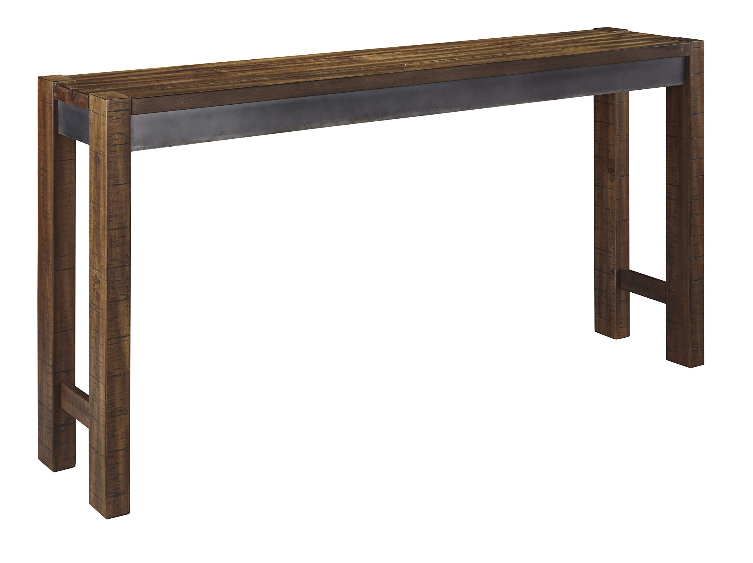 Torjin Long Counter Sofa Table in Brown and Gray