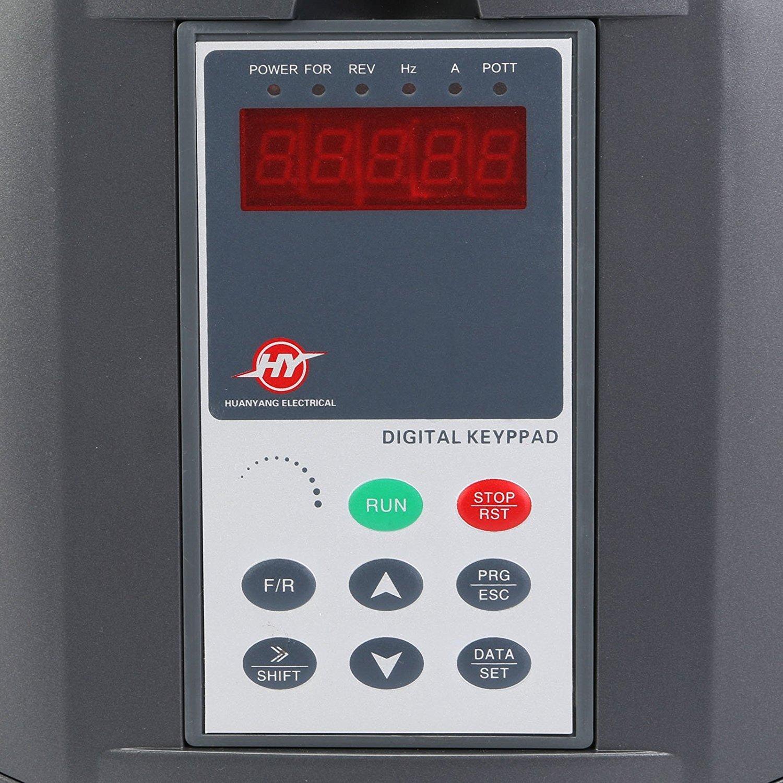 Buoqua Frequenzumrichter 7.5KW Variable Frequency Driver VFD 220V 10HP Professional Frequenzwandler Inverter Antrieb f/ür CNC-Spindel