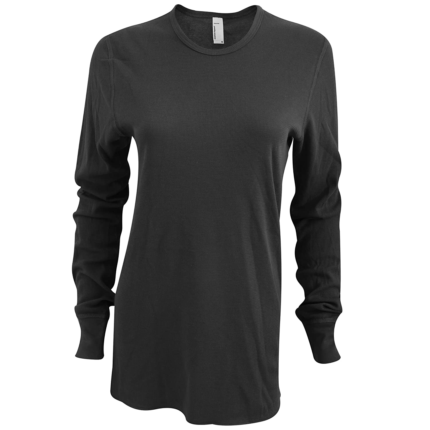 American Apparel Unisex Baby Thermal Long Sleeve T-Shirt -2XL- -Black-
