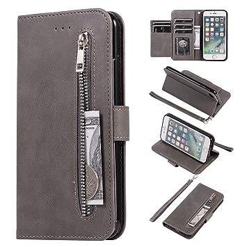 Compatibles para iPhone 7 iPhone 8 Funda WIWJ Libro PU Cuero ...