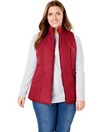 f81f3735b701ac Woman Within Women s Plus Size Quilted Vest