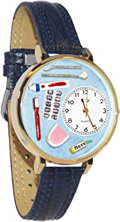 product image for Whimsical Watches Unisex G0620001 Dentist Blue Leather Watch