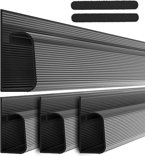 J Channel Kabelkanal Set Kabel Organizer Für Schreibtisch 4x 41cm Schwarz Untertisch Kabelmanagement Für Büro Und Zuhause Baumarkt