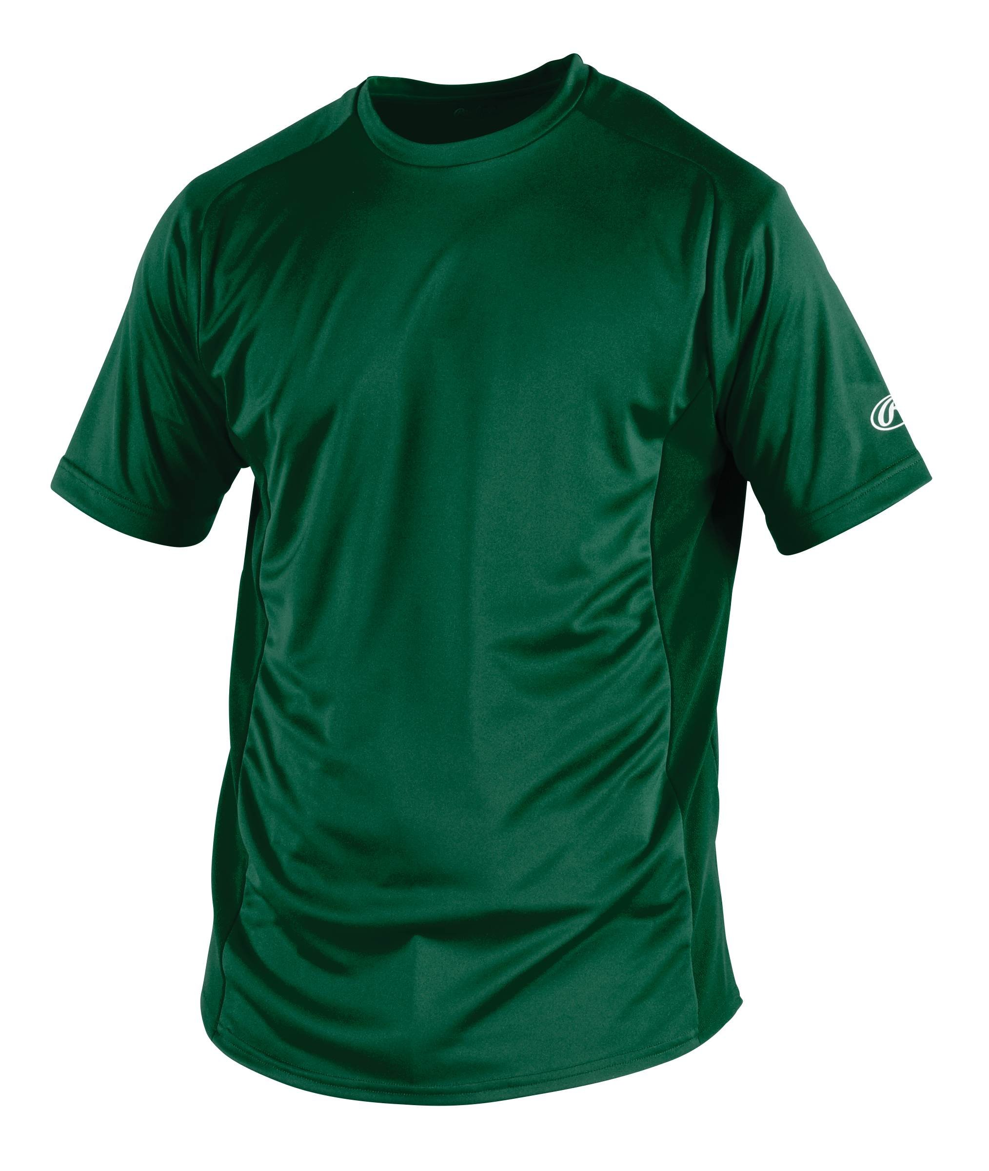 Rawlings Men's Short Sleeve Baselayer Shirt, Dark