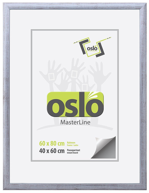 OSLO MasterLine Bilderrahmen Panoramarahmen 60x80 silber matt ...