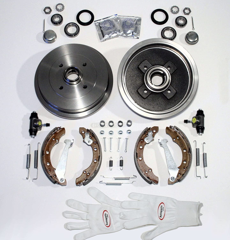 Autoparts-Online Set 60003560 Bremstrommel//Bremsen Set hinten