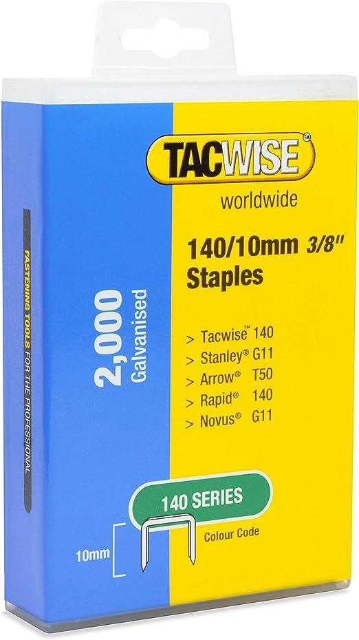 Tacwise Série 140 10 mm Heavy Duty Staples 5000 pièces pour agrafeuse Classe A