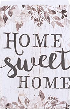 Made in US Bigtime Signs Wall Family Decoration for Home Home Sweet Home Sign Rustic Printed Wood Look Door 11.75 x 9 Rigid PVC Signs Decor Mantle Predrilled Hole for Easy Hanging Porch Table