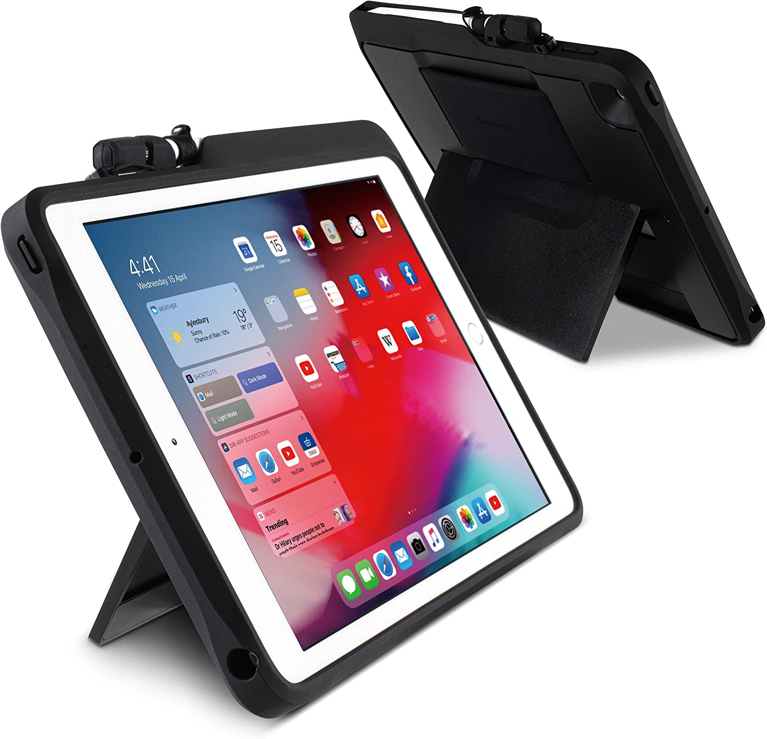 Kensington iPad 10.2 inch Case - Blackbelt 2nd Degree Rugged Case for iPad 10.2 Inch with Drop Protection, Screen Protector and Apple Pencil Holder (K97321WW)