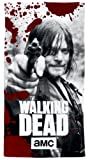 Herding 6165203516 The Walking Dead Velourstuch, Baumwolle, grau, 75 x 150 cm