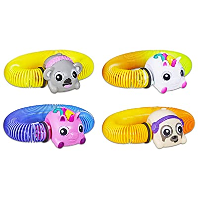 Zoops Pet Toy Party Favors for Kids Boys Girls ~ Pack of 4 Electronic Twisting Zooming Climbing Toy, Assorted Animals: Toys & Games