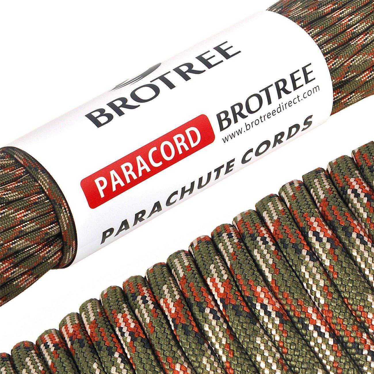 Brotree m Paracord Cuerda de Paracaídas de Nylon lbs Resistentes Hebras de