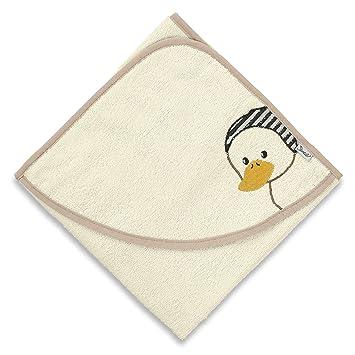 Sterntaler Handtuch 30x50 cm mit Namen bestickt Baby Geschenk zur Geburt Badehandtuch Ben weiss