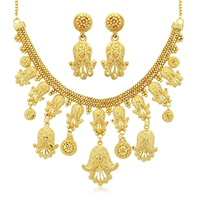 86e33a47b Buy Sukkhi Fancy Gold Plated Choker Necklace Set for Women Online at Low  Prices in India | Amazon Jewellery Store - Amazon.in