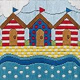 Anchor - Patrón para cuadro de bordado, diseño de cabañas de playa, multicolor
