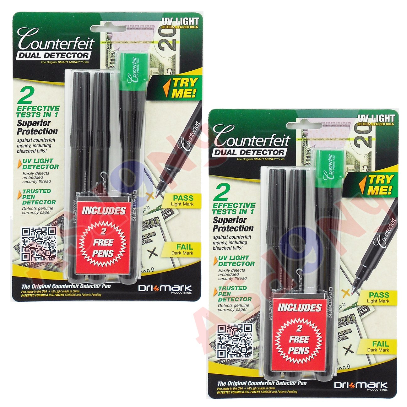 Dual Test CD Counterfeit Detector Pen (Pack of 2)