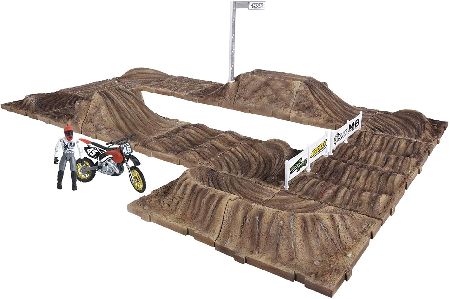 Mxs Motocross Dirt Bike Race Track Playsets Amazon Canada