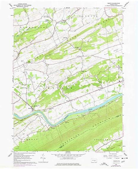 Amazon.com : YellowMaps Mexico PA topo map, 1:24000 Scale, 7.5 X 7.5 ...