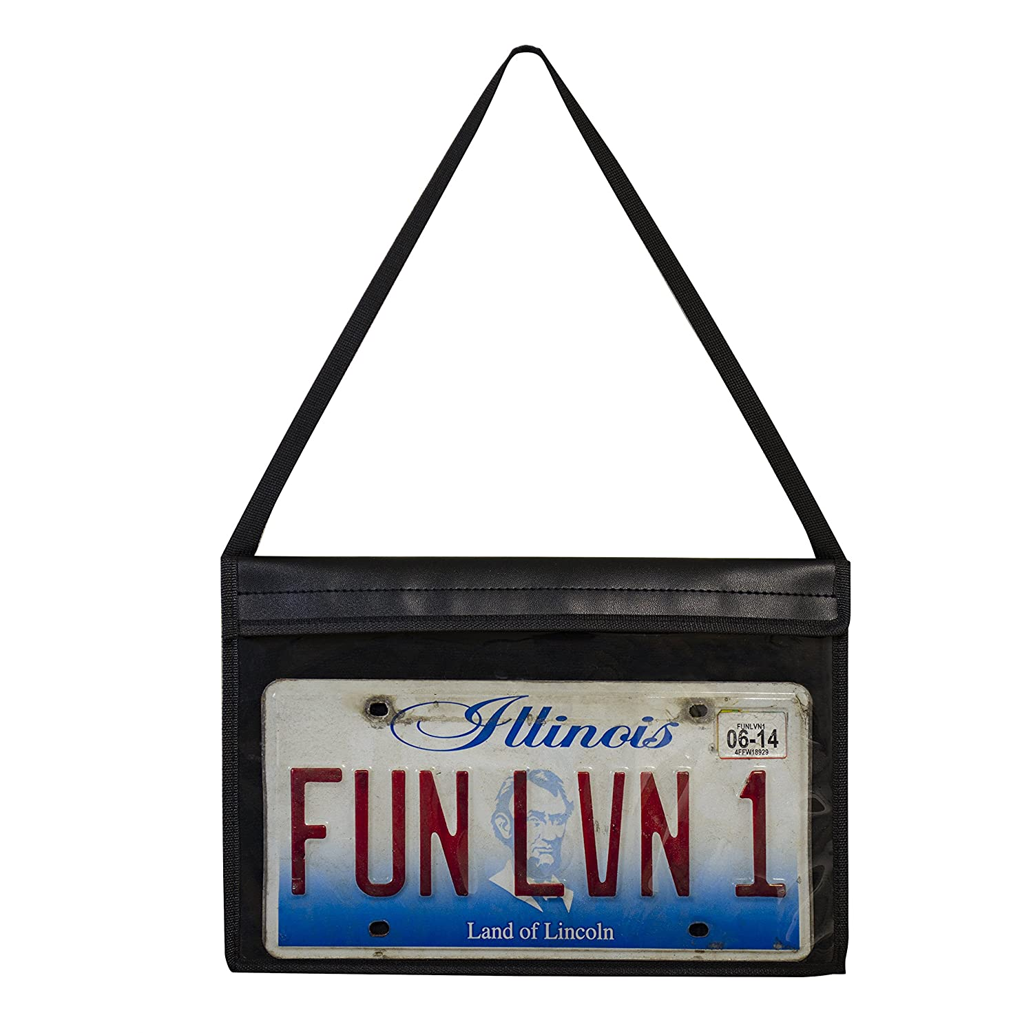 C-Line License Plate Holder with Hanging Strap 41902 Stitched