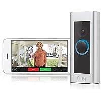 Ring Video Doorbell Pro - Sonnette vidéo 1080 HD avec carillon Chime inclus, système audio bidirectionnel, détection de mouvement et wi-fi