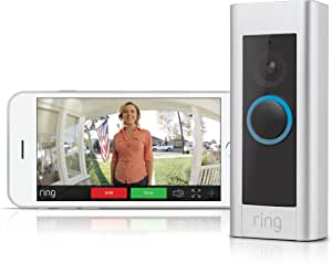 Ring Video DoorBell Pro - Hardwired WiFi Doorbell Security Camera - Sleek Design with Two way talk - Full HD video - Motion Detection - Night Vision