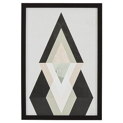 Amazon.com: Rivet Modern Abstract Diamond Print II, Black Frame, 14 ...