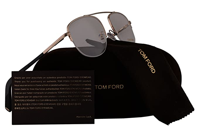 b591553538 Image Unavailable. Image not available for. Colour  Tom Ford FT5450  Eyeglasses 51-19-140 Shiny Rose Gold Black 028 ...