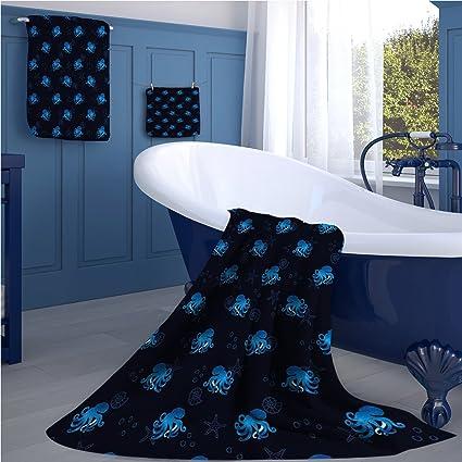 familytaste Otopus - Juego de toallas de baño (693D, impresión digital, acuarela,