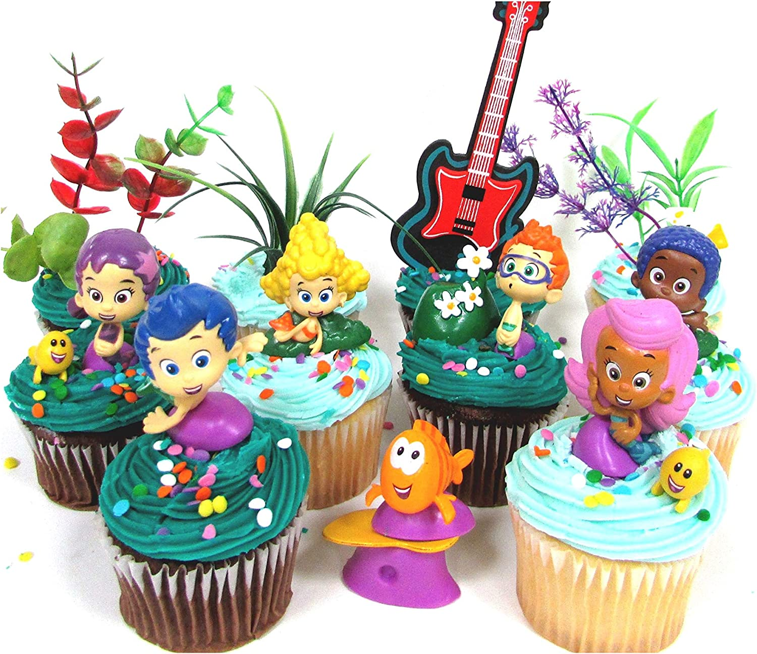 Remarkable Amazon Com Bubble Guppies 19 Piece Birthday Cupcake Topper Set Birthday Cards Printable Trancafe Filternl