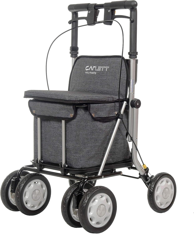 Carlett 900 - Andador con Carro de Compras, Gris