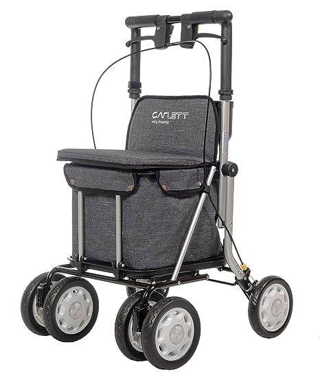 Carlett 900 - Andador con Carro de Compras, Gris: Amazon.es: Salud ...